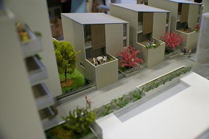 Maquette architecture représentant une EHPAD parisienne.