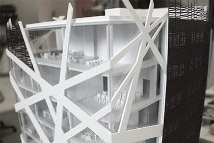 Maquette bâtiment réalisée pour le cabinet d'architecture Bismut et Bismut.