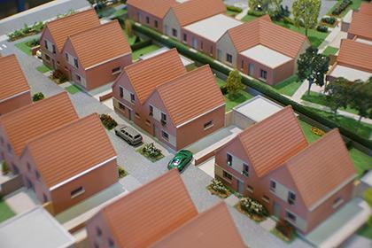 Maquette de lotissement pour la ville de Bouvines.