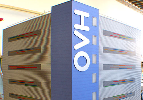 Model prototype tower of the ovh building