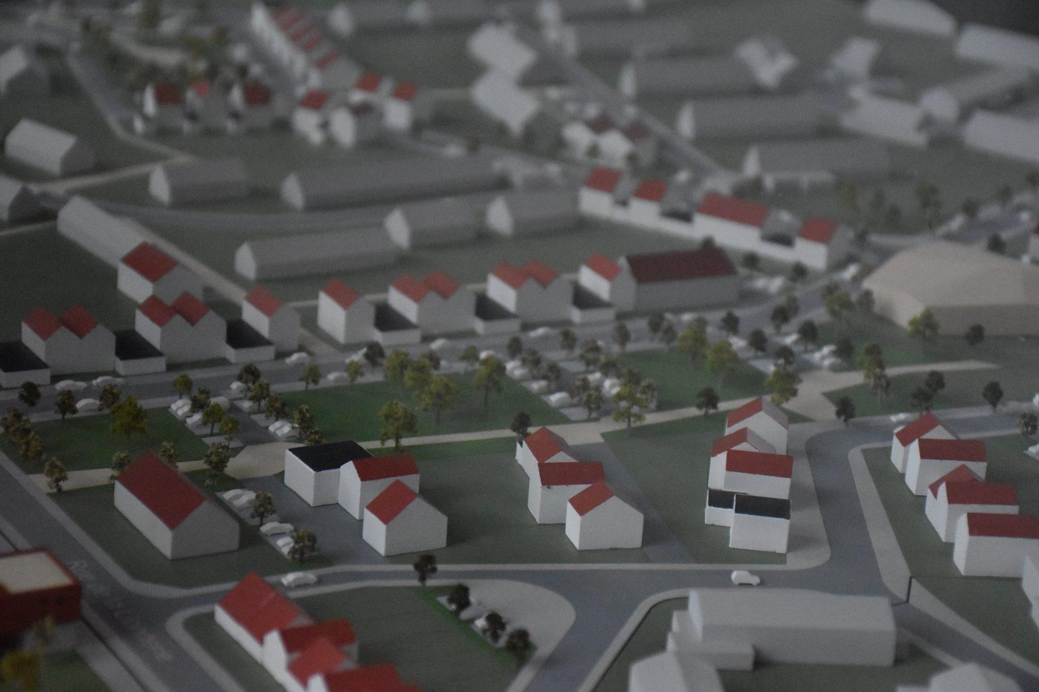 Maquette de présentation du projet de rénovation du quartier Lionderie/ Trois Baudets à Hem